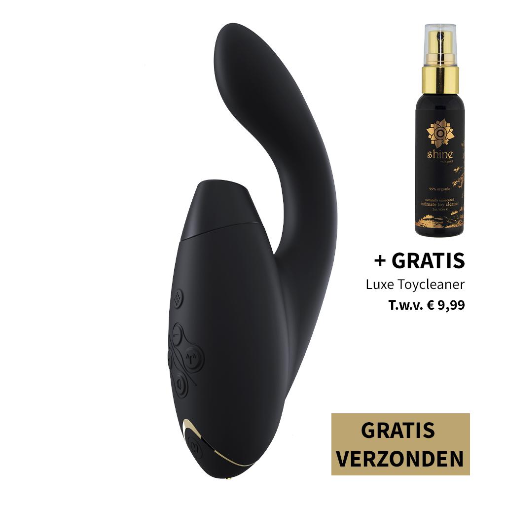 Womanizer DUO Zwart – Dubbele Stimulatie